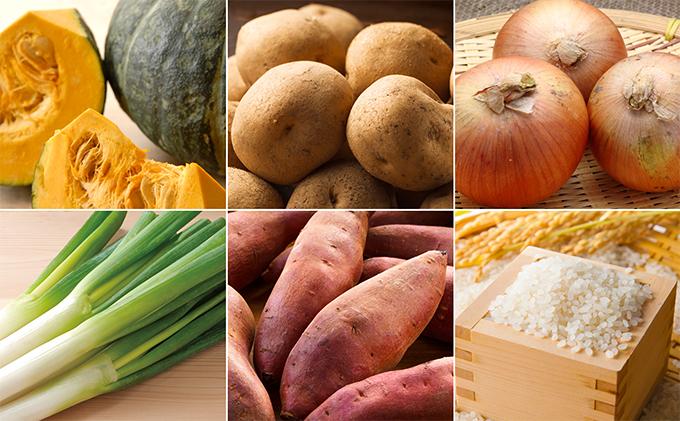 北海道新篠津村のふるさと納税 〔しんしのつ産直市場〕人気の採れたて旬の秋野菜と新米ゆめぴりか詰合せ