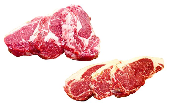北海道月形町のふるさと納税 ≪月形熟成牛≫厚切りステーキセット6枚