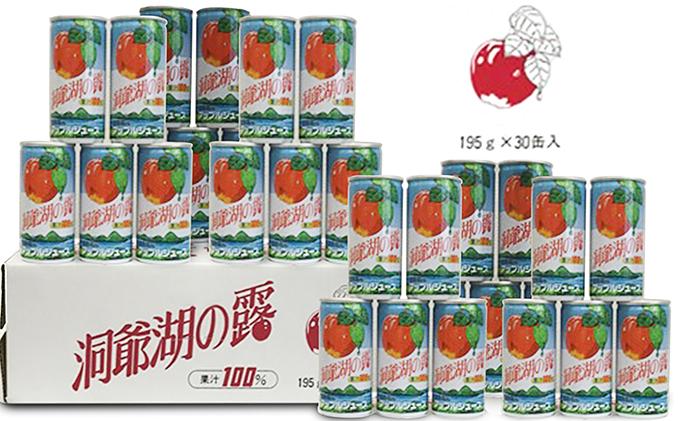 北海道洞爺湖町のふるさと納税 りんごジュース「洞爺湖の露」195g×30本