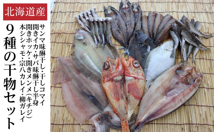 北海道中標津町のふるさと納税 北海道産 干物セット9種