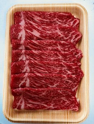 富山県氷見市のふるさと納税 氷見牛もも すき焼き用1000g(A4以上)