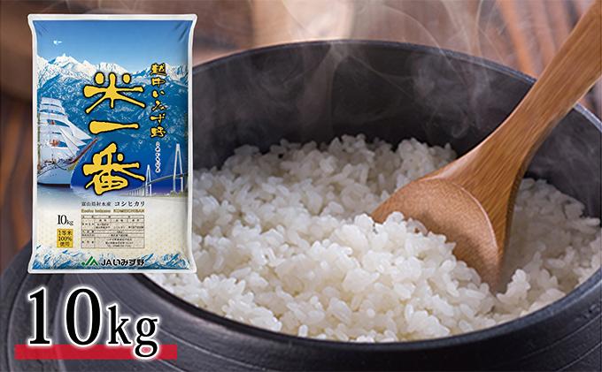 富山県射水市のふるさと納税 越中いみず野米一番 10kg(コシヒカリ)