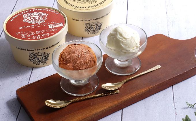 長門牧場アイスクリーム 480ml バニラ&チョコレート