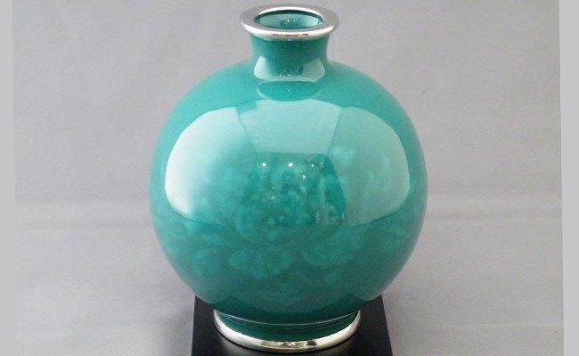 尾張七宝 沈み文花瓶
