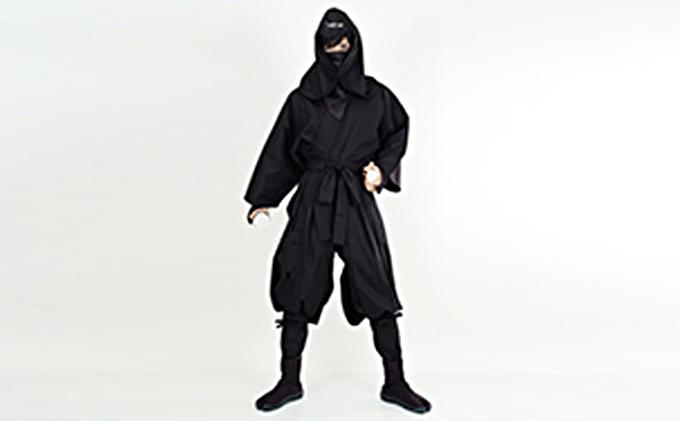 大人用袴式本格派忍者衣装(黒)